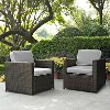 KO70005BR-GY Gray and Brown 2 Piece Wicker Furniture Set - Palm Harbor