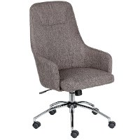 Gray Tweed Mid Back Office Chair