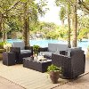 KO70056BR-GY Gray and Brown 5 Piece Wicker Patio Furniture Set - Palm Harbor