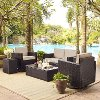 KO70056BR-SA Sand and Brown 5 Piece Wicker Patio Furniture Set - Palm Harbor