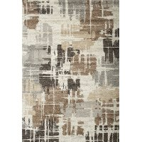 8 x 11 Large Brown, Ivory, and Gray Area Rug - Granada