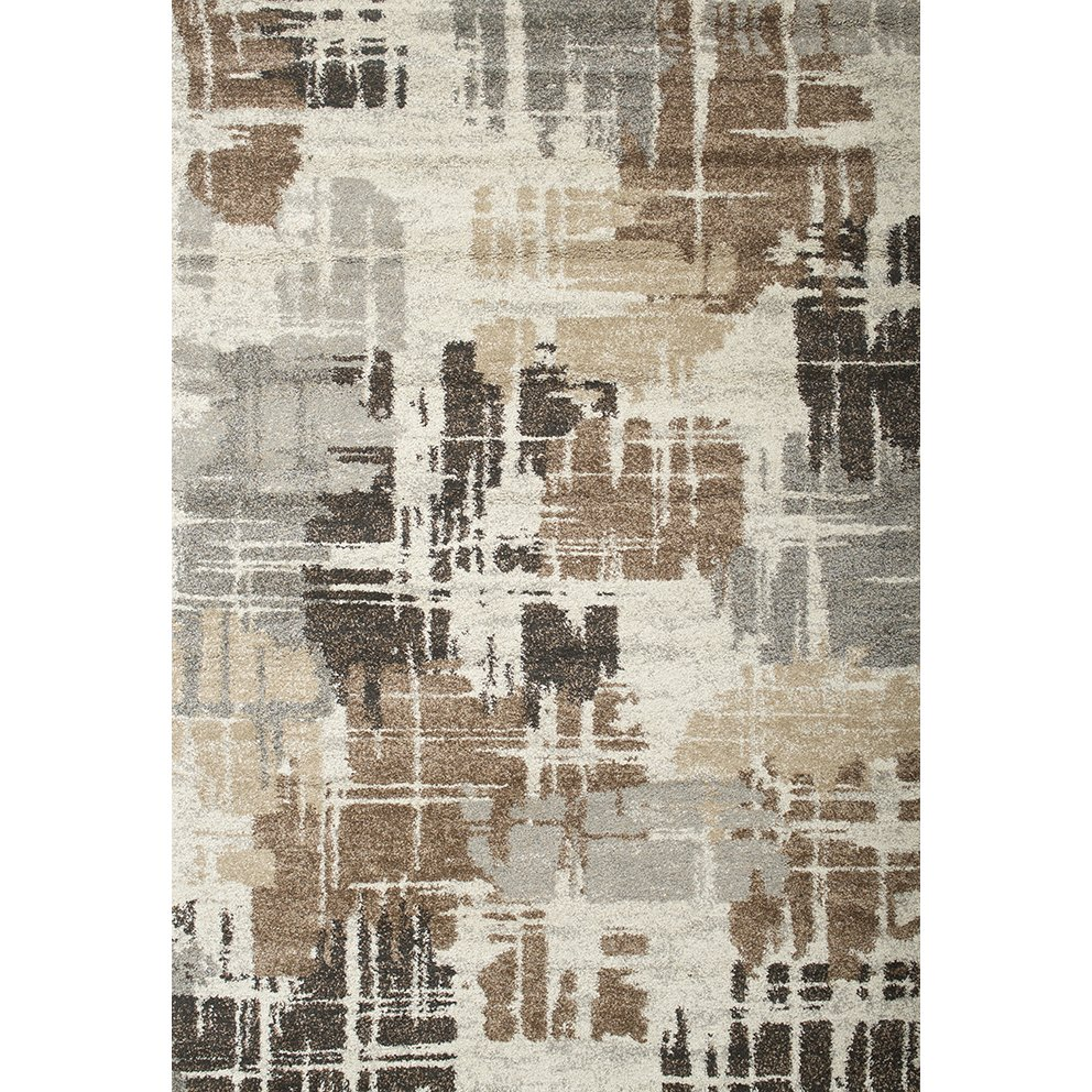 8 X 11 Large Brown Ivory And Gray Area Rug Granada