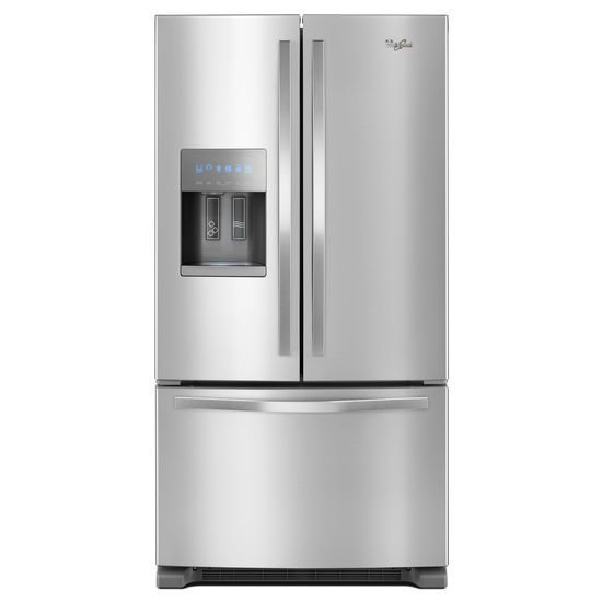 Whirlpool Wide Smudge Proof French Door Refrigerator 36 Inch Stainless Steel Rc Willey Furniture