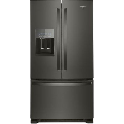 WRF555SDHV Whirlpool French Door Refrigerator - 36 Inch Black Stainless Steel