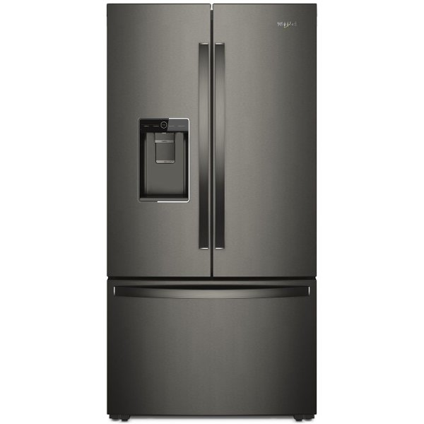 ... WRF954CIHV Whirlpool French Door Refrigerator   36 Inch Black Stainless  Steel Counter Depth