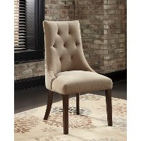 Set of 2 Casual Upholstered Dining Chairs - Mestler