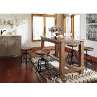 Brown Counter Height Dining Table - Pinnadel