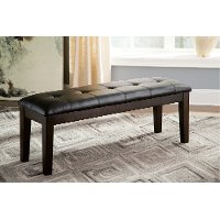 D596-00 Large Upholstered Dining Bench - Haddigan