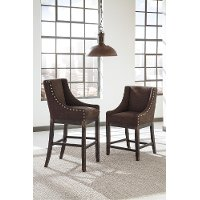 D608SDE Casual Upholstered Counter Stools (Set of 2) - Moriann