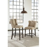 Casual Upholstered Counter Height Stool (Set of 2) - Moriann