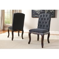D658SDB Upholstered Side Chair (Set of 2) - Trudell