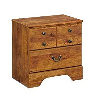 B219-92 Vintage Two Drawer Night Stand -Bittersweet