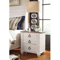 B267-92 Two Drawer Night Stand - Willowton