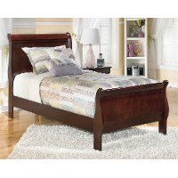 Brown Traditional Twin Sleigh Bed - Alisdair