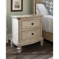 B693-92 Casual Two Drawer Night Stand - Demarlos