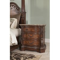 B705-93 Traditional 3-Drawer Night Stand - Ledelle
