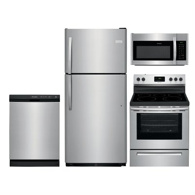 ss frg 4pc 21topmtn frigidaire stainless steel 4 piece kitchen appliance package with frigidaire stainless steel 4 piece kitchen appliance package with      rh   rcwilley com