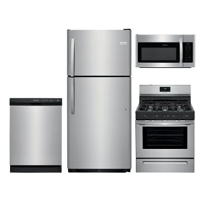 Frigidaire Stainless Steel 4 Piece Kitchen Appliance Package with ...