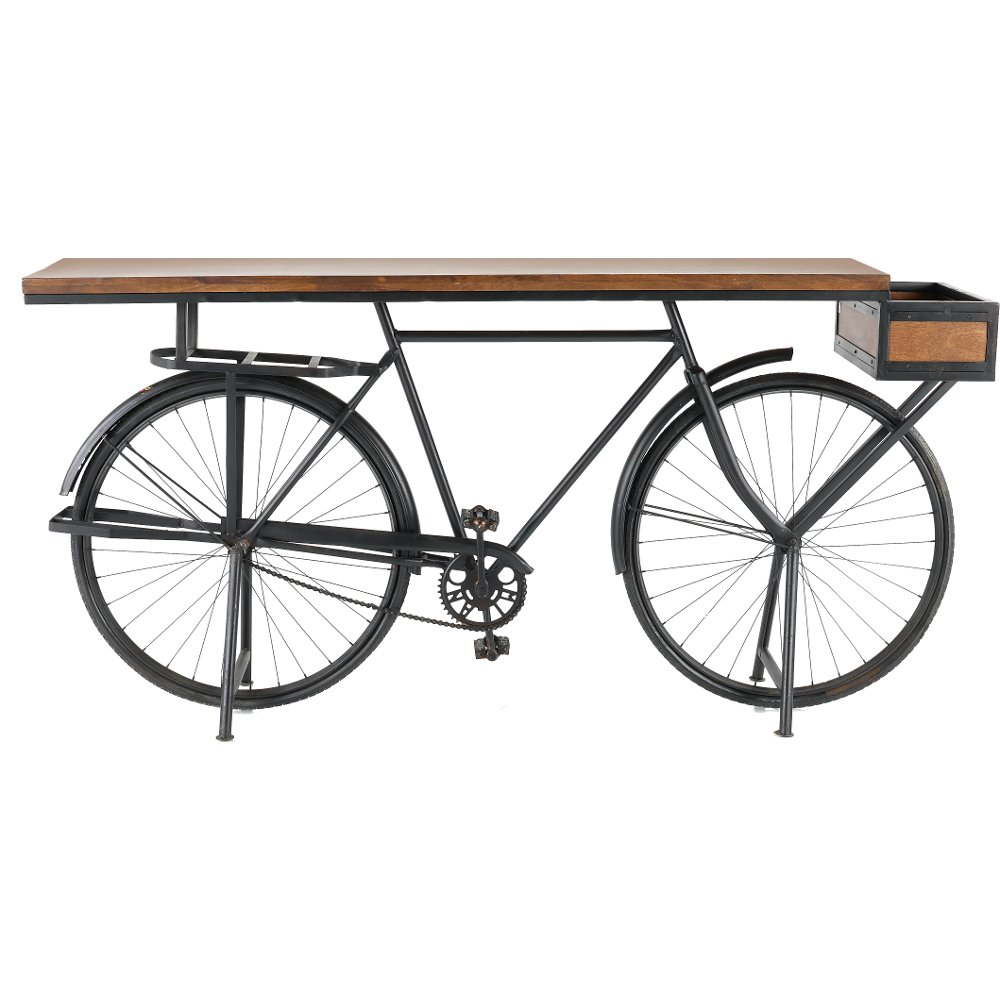 Brown and black bicycle counter height dining table rc willey brown and black bicycle counter height dining table rc willey furniture store geotapseo Choice Image