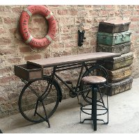 Brown and Black Bicycle Counter Height Dining Table