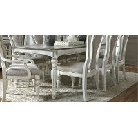 Antique White Dining Table - Magnolia Manor