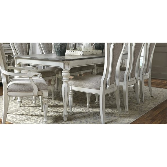 Antique White Dining Table   Magnolia Manor