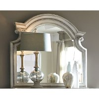 Antique White Traditional Mirror - Magnolia Manor