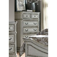 Traditional Antique White Chest of Drawers - Magnolia Manor