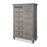 Casual Rustic Gray Door Chest - Dovetail