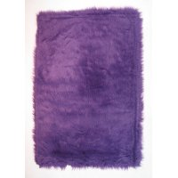 3 x 5 Small Purple Shag Rug - Flokati