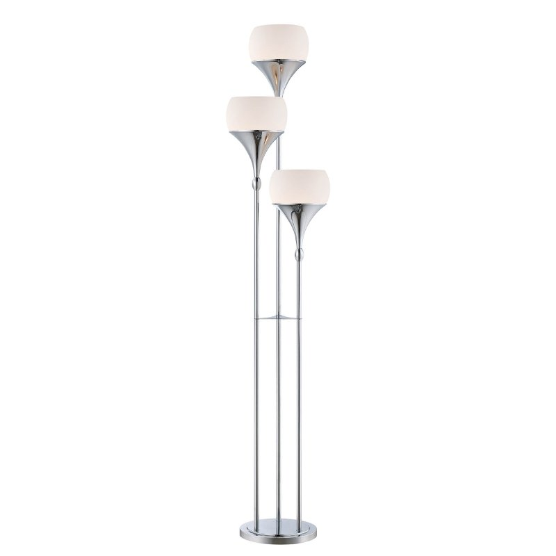 Floor Lamp With Frosted Gl Shades