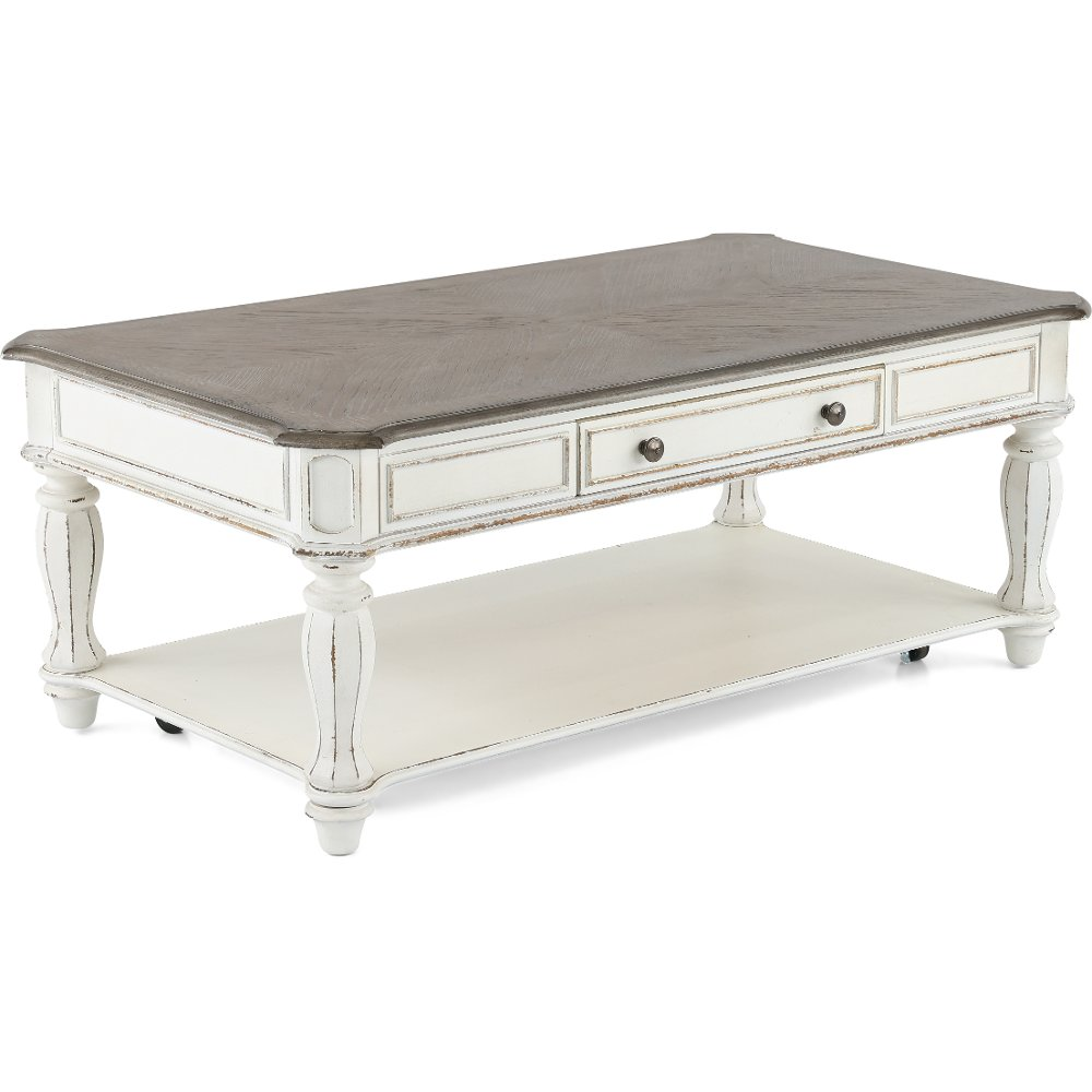 Coffee table coffee tables rc willey furniture store antique white coffee table magnolia manor geotapseo Gallery