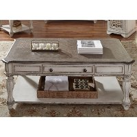antique white coffee table - magnolia manor | rc willey furniture