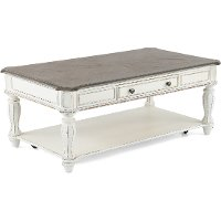 Antique White Coffee Table - Magnolia Manor