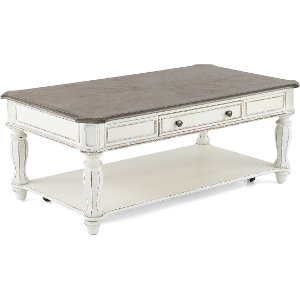 Antique White Coffee Table Magnolia Manor RC Willey Furniture