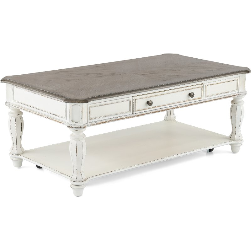 Well-liked Antique White Coffee Table - Magnolia Manor | RC Willey Furniture  VY42