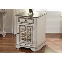 Antique White Chair Side Table - Magnolia Manor