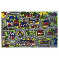 7 x 10 Large Drive Time Multi-Color Area Rug - Fun Time