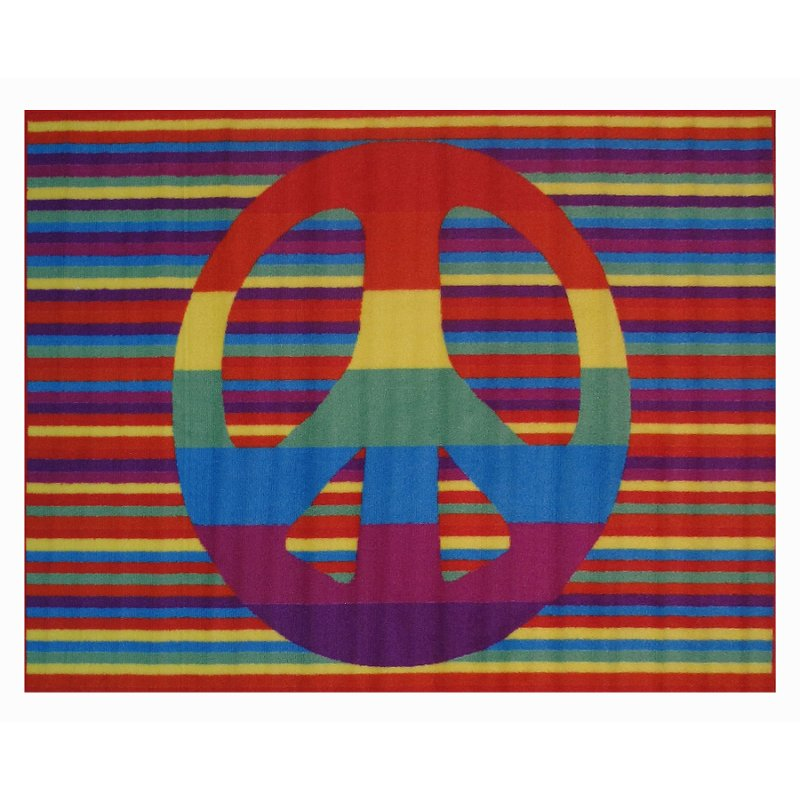3 x 5 small groovy peace multi color area rug   fun time rcwilley image1~800