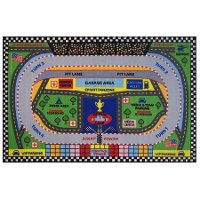 3 x 5 Small Speedway Multi-Color Area Rug - Fun Time