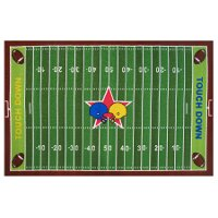 3 x 5 Small Football Field Multi-Color Area Rug - Fun Time