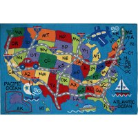 3 x 5 Small Travel Fun Multi-Color Area Rug - Fun Time