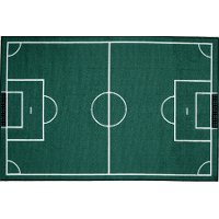 3 x 5 Small Soccer Field Green Area Rug - Fun Time