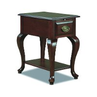 Dark Cherry Chair Side Table Salon