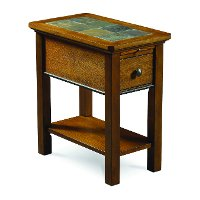 8710-066 Light Oak and Slate Side Table - Breckenridge