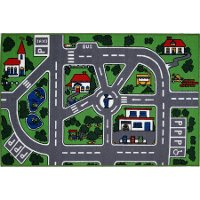 5 x 7 Medium City Streets Multi-Color Area Rug - Fun Time