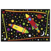 3 x 5 Small Outer Space Multi-Color Area Rug - Fun Time