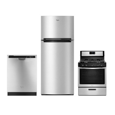 kit whirlpool 3 piece stainless steel kitchen appliance package with gas range whirlpool 3 piece stainless steel kitchen appliance package with      rh   rcwilley com