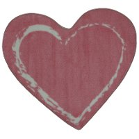 2 x 3 X-Small Pink Heart Area Rug - Fun Time Shape