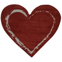 2 x 3 X-Small Red Heart Area Rug - Fun Time Shape